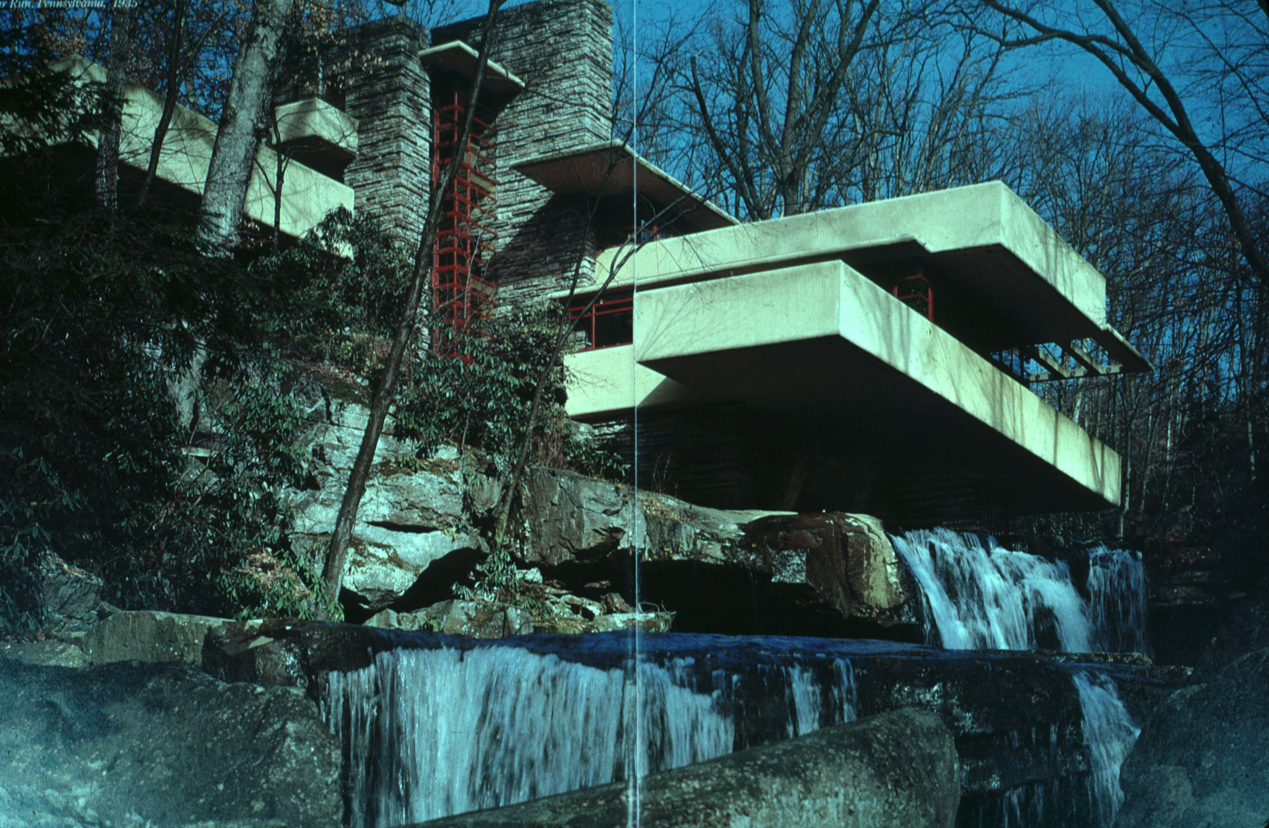 aspects of creative work fallingwater by Frank lloyd wright's organic architecture, seen in particular at taliesin west and fallingwater and their work can be seen in many modern designs.